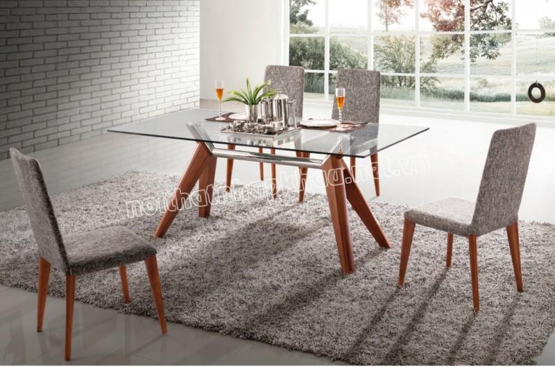 Lựa chọn bàn ăn kính đẹp phù hợp với mọi không gian màu sắc