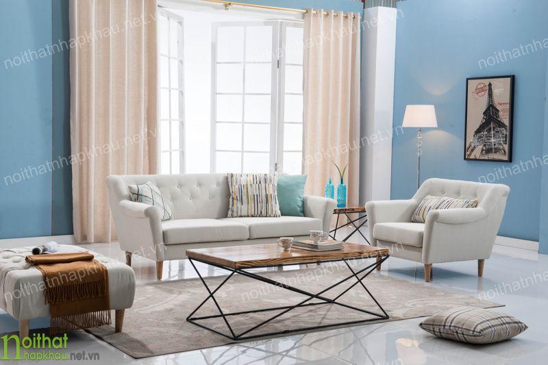 sofa khung gỗ bọc nỉ cao cấp