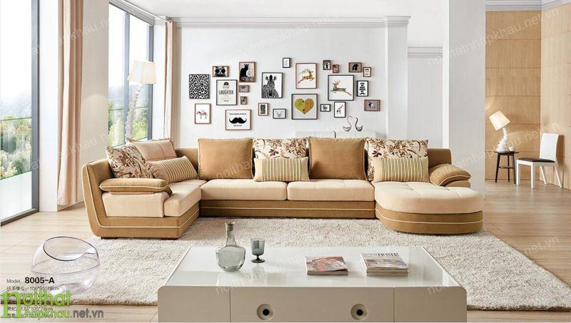Bài trí ghế sofa góc cho căn phòng khách thông thoáng