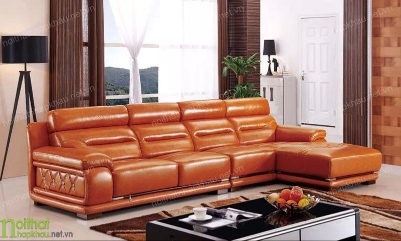 Đổi mới không gian phòng khách với ghế sofa màu cam