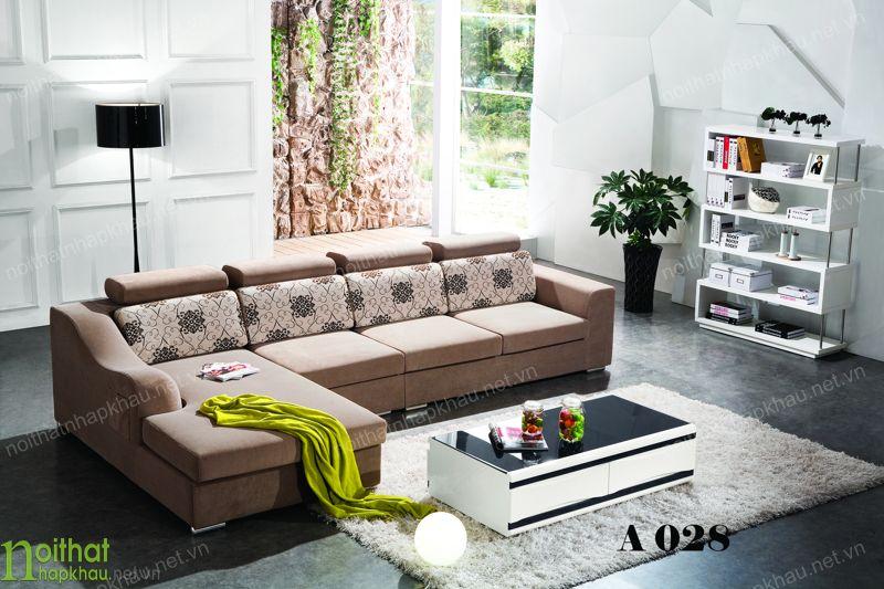 Ghế sofa bọc nỉ cao cấp màu sắc trang nhã
