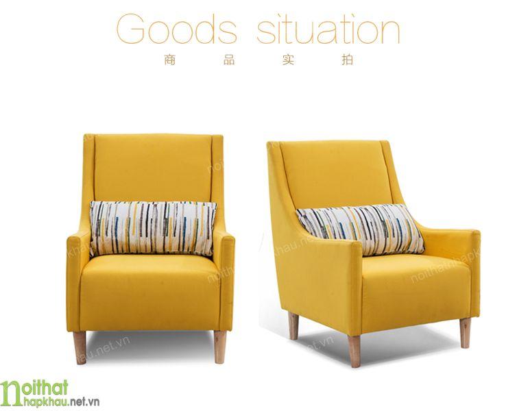 Ghế sofa phòng khách đơn nhỏ nhắn và gọn gàng