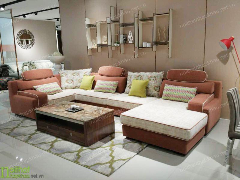 Ghế sofa màu hồng chủ đạo nhẹ nhàng, thân thiện