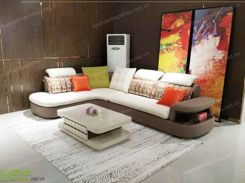Ghế sofa phong cách được trang trí màu sắc ấn tượng