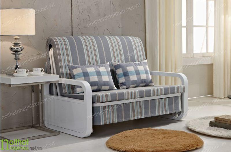 Bộ sofa văng màu ghi xám nhẹ nhàng, tinh tế