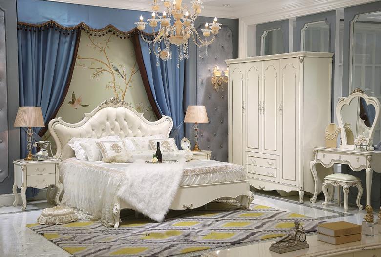 Giường ngủ tommy sơn ngọc trai 6001