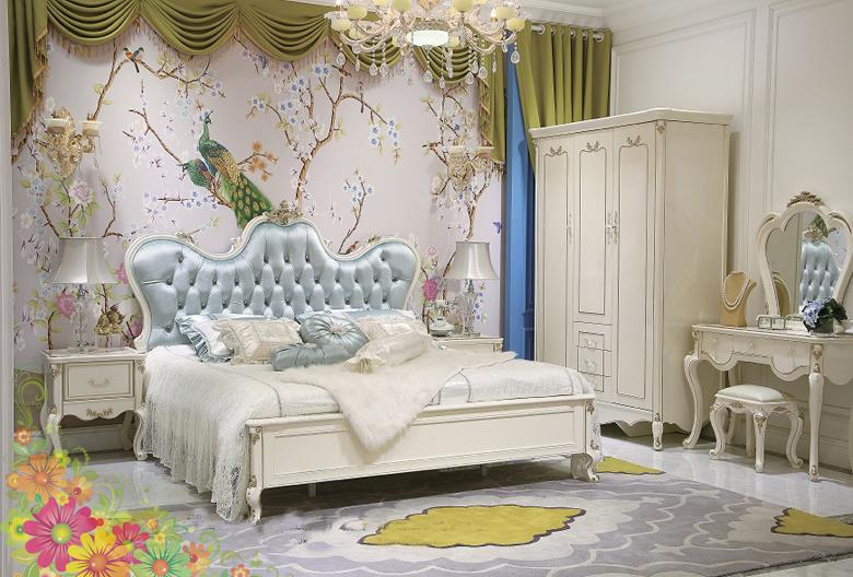 Giường ngủ tommy sơn ngọc trai 6002
