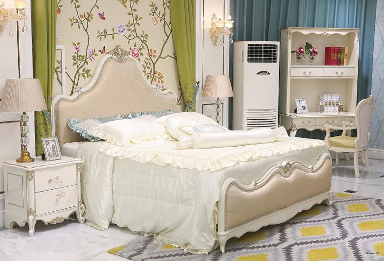 Giường ngủ tommy sơn ngọc trai 6003