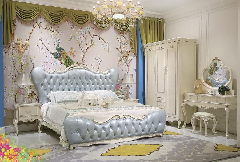 Giường ngủ tommy sơn ngọc trai 6005