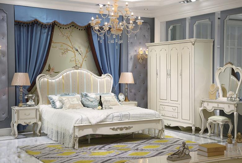 Giường ngủ tommy sơn ngọc trai 6006