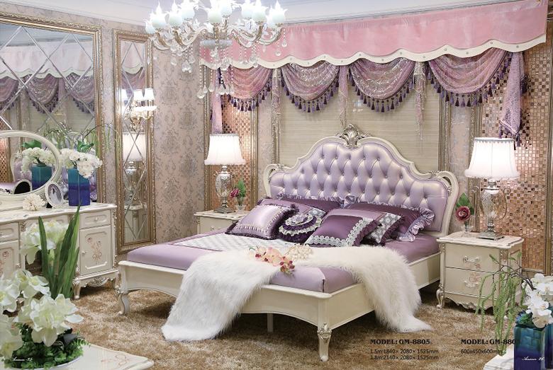 Giường ngủ tommy sơn ngọc trai 8805