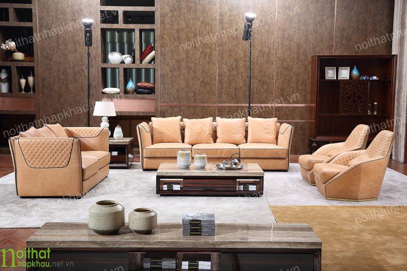 Bộ sưu tập ghế sofa da đẹp được nhiều gia đình Việt yêu thích