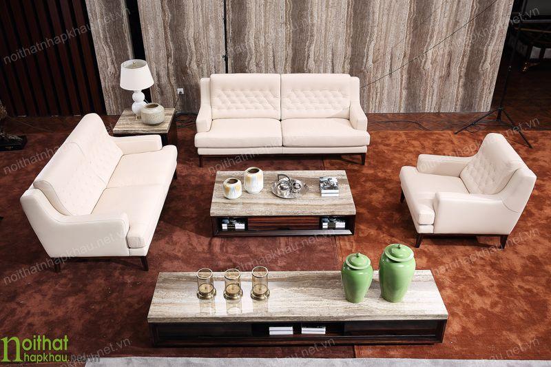 Ghế sofa màu trắng tân cổ điển sang trọng