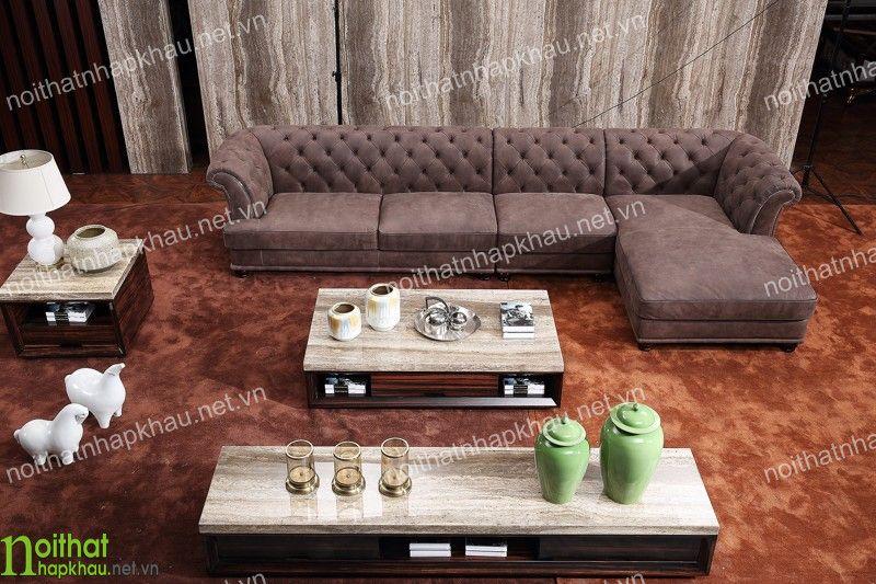 Phòng khách đẹp sang trọng với bộ ghế sofa góc