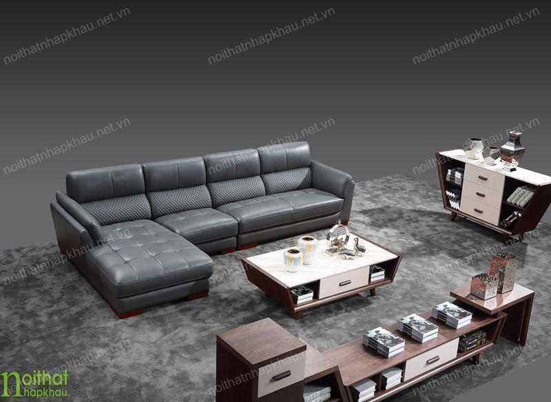 Ghế sofa da thật bền đẹp, mang tới sự sang trọng cho phòng khách