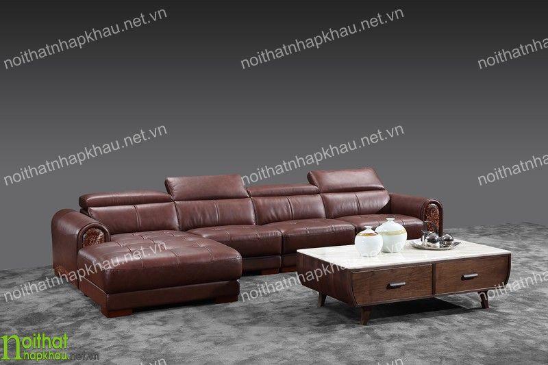 Bộ sofa da kiểu dáng chữ L hiện đại