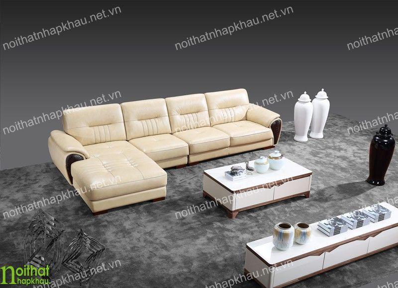 Bộ sofa góc tinh tế, sang trọng giúp không gian phòng khách sáng hơn