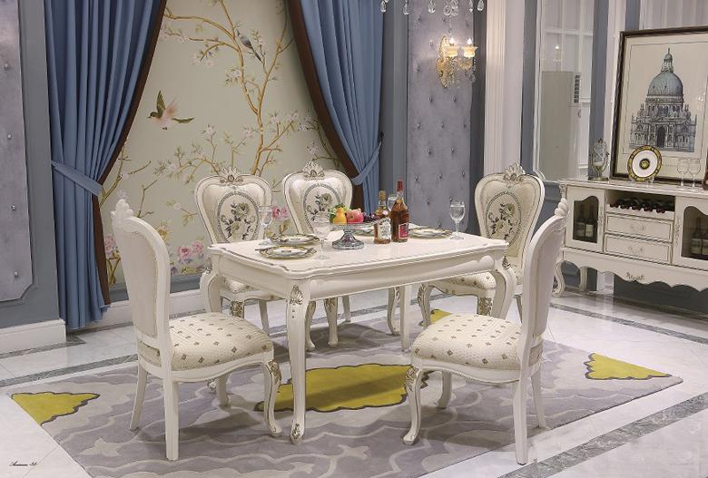 Bàn ăn tommy sơn ngọc trai 6002 – ghế ăn 6002