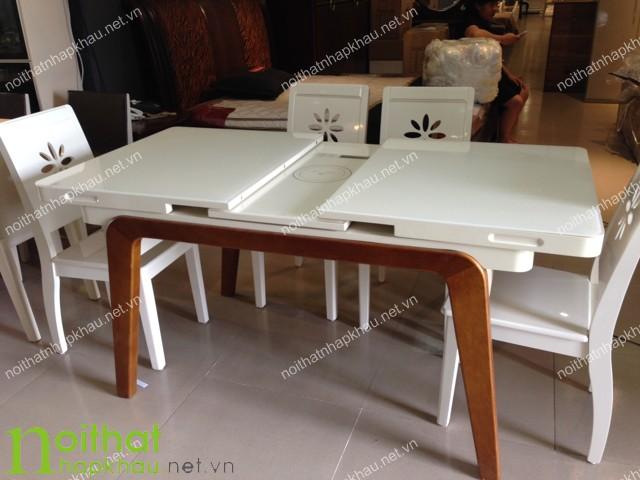 Thiết kế bàn mở rộng có hệ thống rãnh trượt thông minh