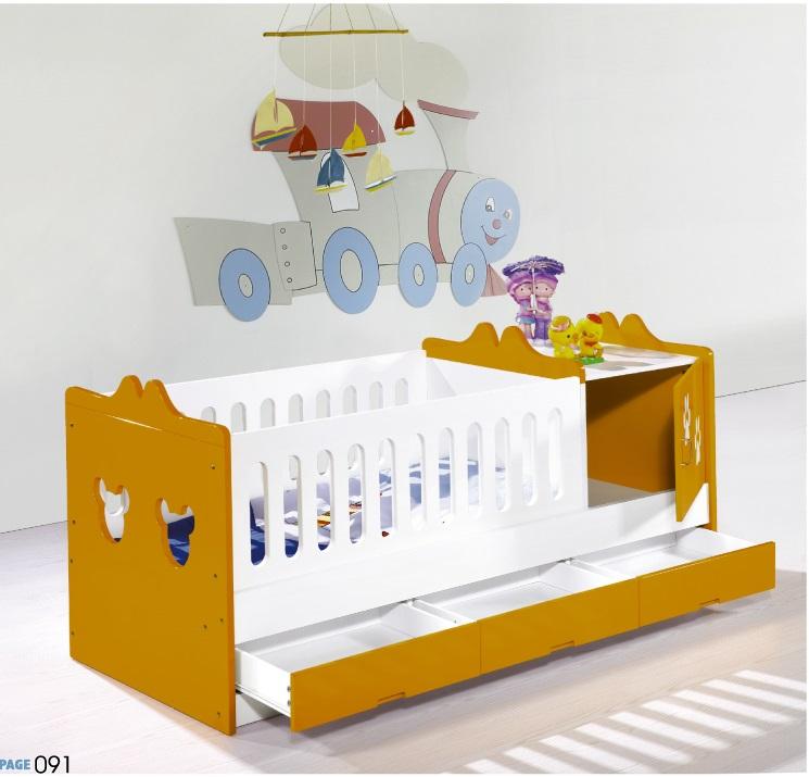 Giường cũi cho bé A09- cam