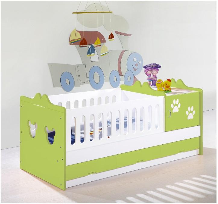 Giường cũi cho bé A09 cốm