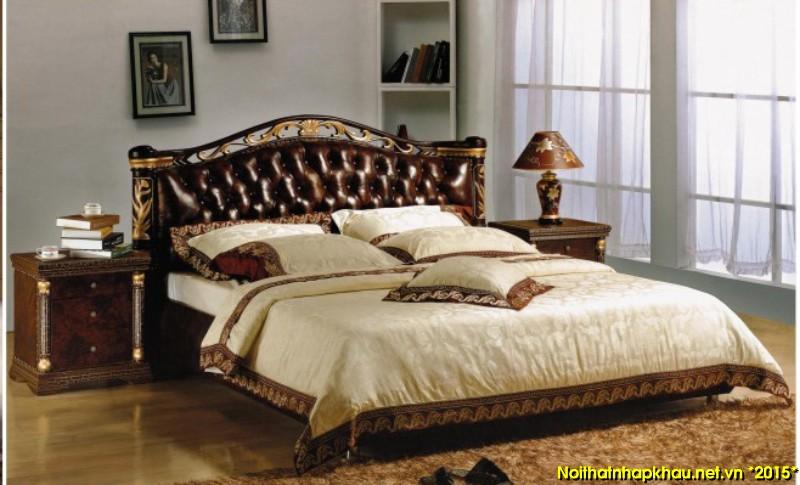 Giường da đẹp L611