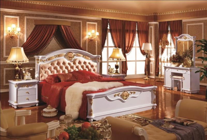 Giường ngủ kiểu cổ điển gỗ óc chó đẹp cao cấp
