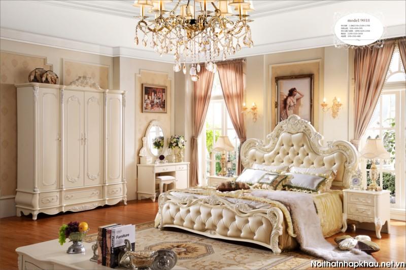 Giường ngủ cao cấp hoàng gia