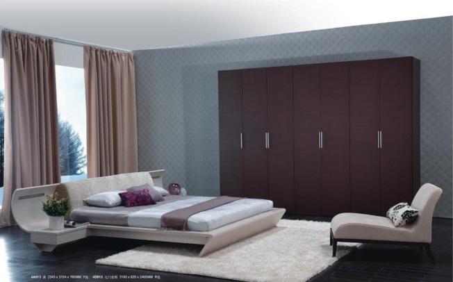Giường ngủ 4A015 trắng