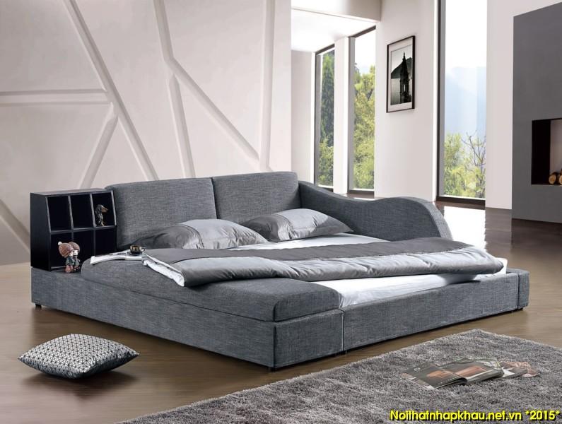 Giường nỉ nhập khẩu 6039