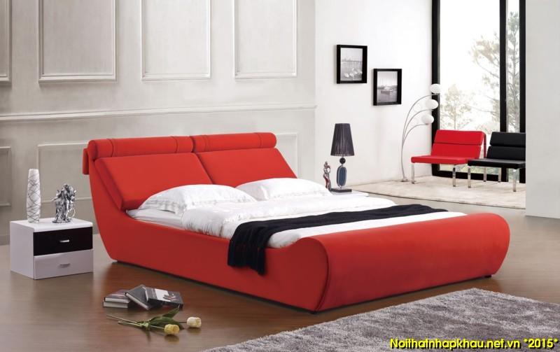 Giường nỉ đẹp B05-1