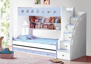 giường tầng đẹp cho trẻ em 859 xanh