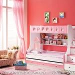 giường tầng đẹp cho trẻ em 859 hồng