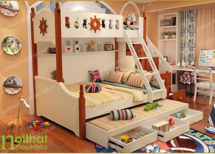 Sử dụng không gian lưu trữ thông minh cho phòng ngủ trẻ em