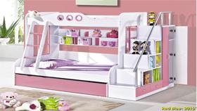 Giường tầng đẹp A14_hồng