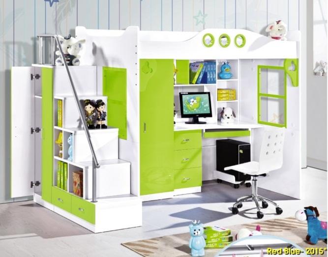 Giường tầng A18_màu cốm