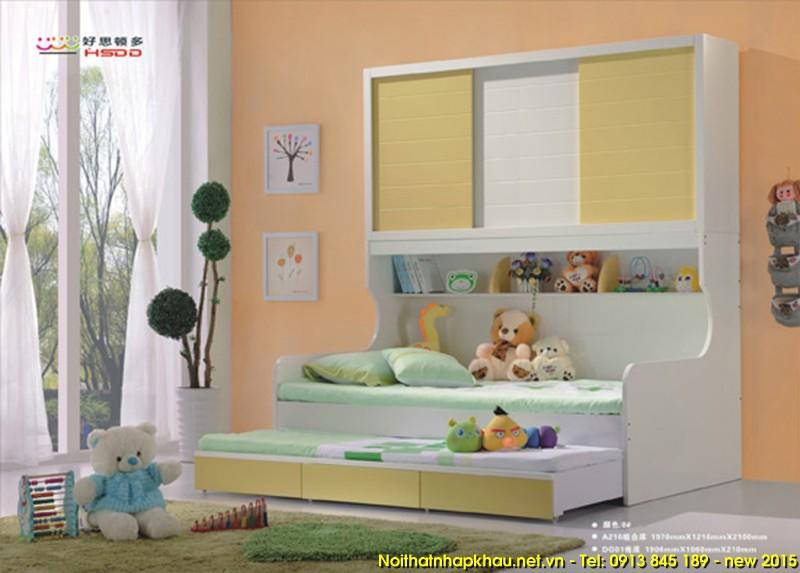 Giường tầng A216- vàng