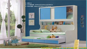 Giường tầng A216-xanh