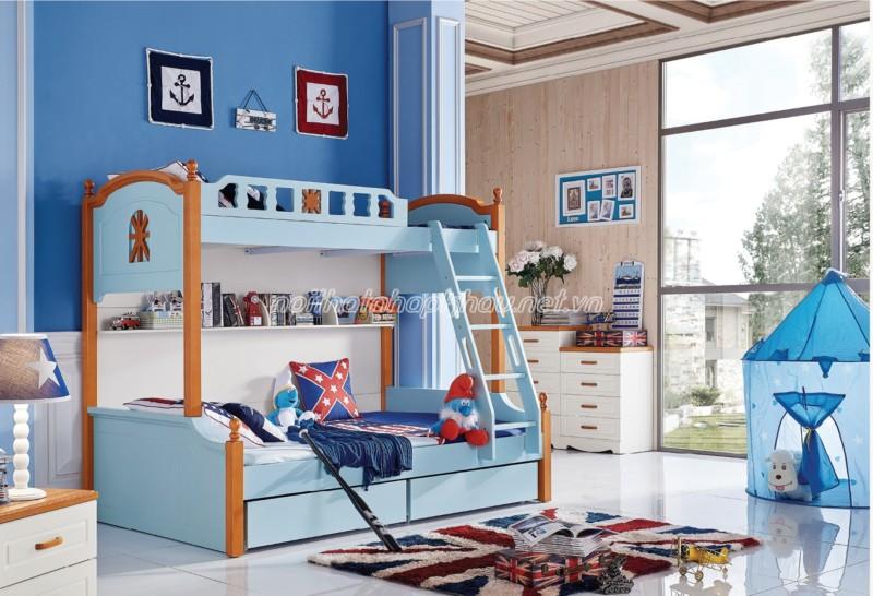 Nội thất phòng ngủ đẹp dành cho bé trai cá tính, mạnh mẽ