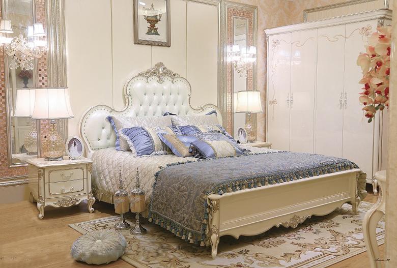 Giường ngủ tommy sơn ngọc trai 8807