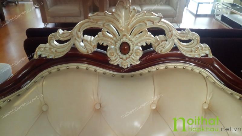 họa tiết trang trí của sofa cổ điển cao cấp b0418