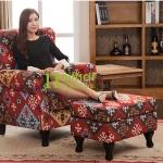 mẫu ghế sofa đơn đỏ