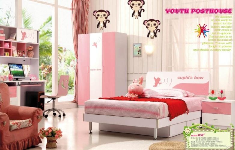 Phòng ngủ trẻ em 832-hồng