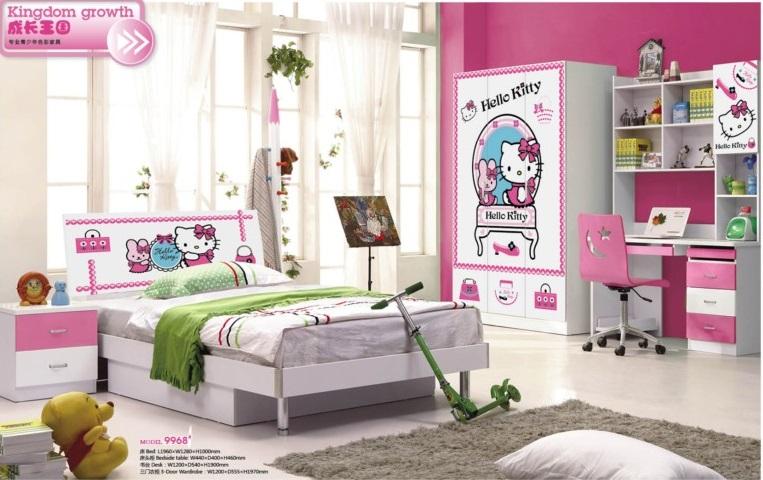Phòng ngủ đẹp 9968 Hello kitty