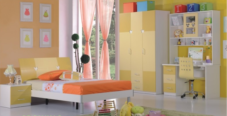 Phòng ngủ đẹp A619 vàng