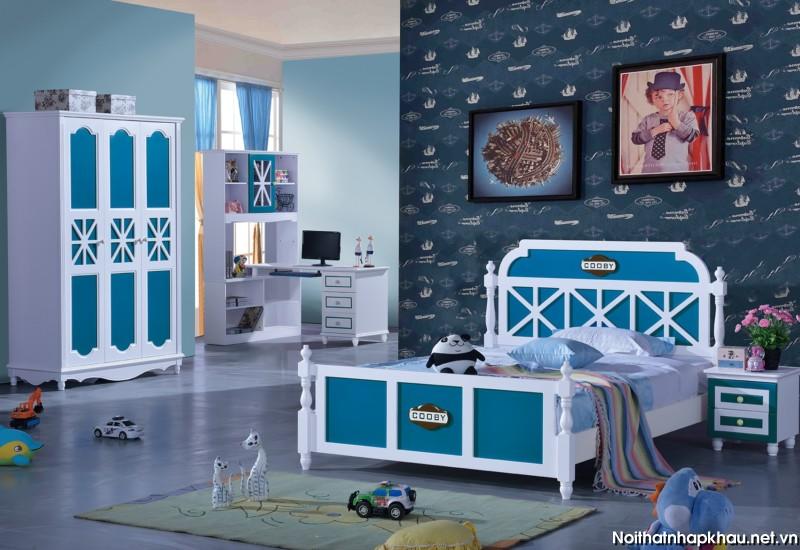 Phòng ngủ đẹp D309 xanh