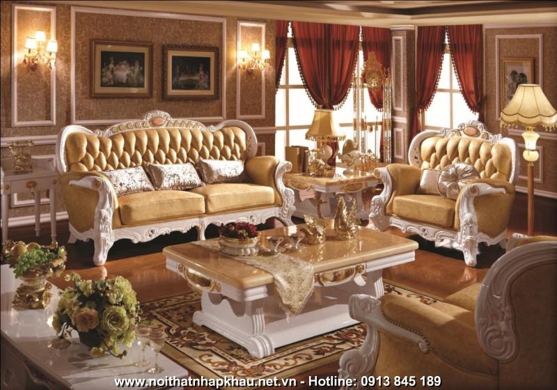 Sofa da cao cấp W312S