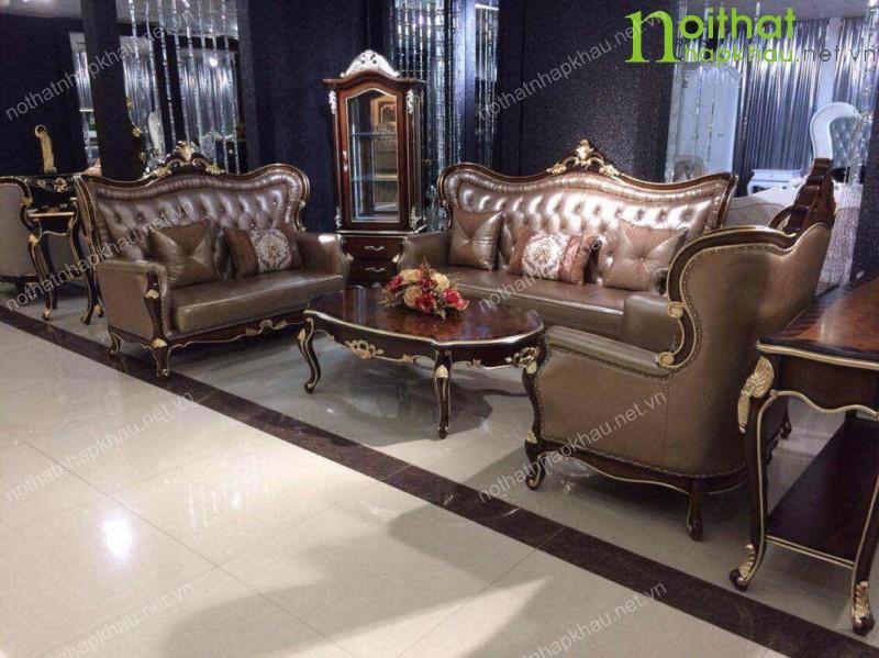 Bộ sofa cổ điển dành cho những căn nhà được thiết kế theo phong cách Châu Âu