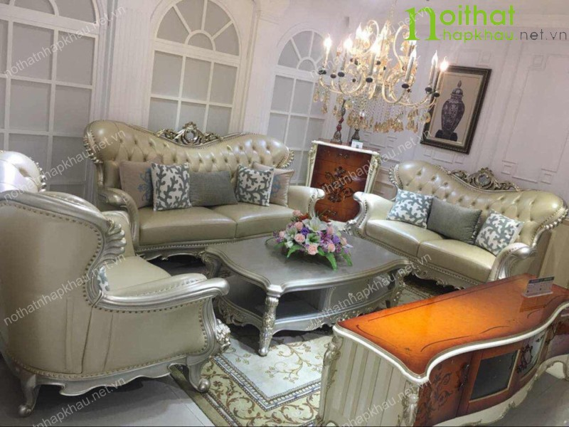 Ghế sofa cổ điển bọc cao cấp FNK12