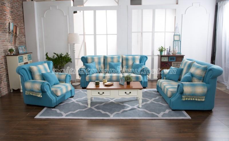 Sofa cổ điển châu âu 6001-xanh